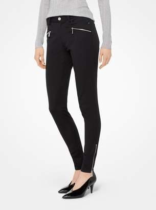 MICHAEL Michael Kors Stretch-Twill Skinny Pants