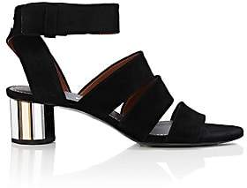 Proenza Schouler Women's Mirrored-Heel Suede Sandals-Black