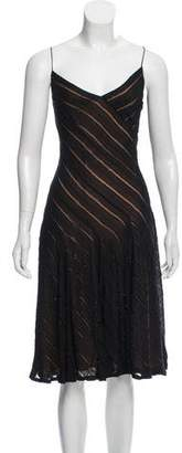 Carmen Marc Valvo Beaded Midi Dress