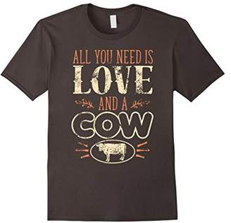 Original All You Need is Love and a Cow T-Shirt