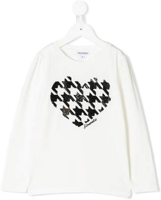 Simonetta sequinned heart top