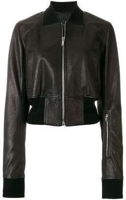 Rick Owens Ribwaist Leather Bomber jacket