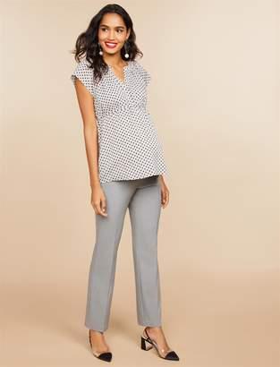 553c6ee5cfbb7 ... Motherhood Maternity Secret Fit Belly Bi-stretch Suiting Straight Leg  Maternity Pants