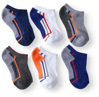 Athletic Works Boys' No Show Socks, 6 Pairs