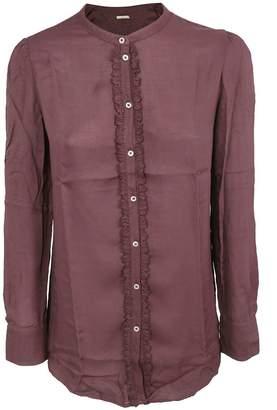 Massimo Alba Ruffled Detail Shirt