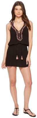 Becca by Rebecca Virtue Mardi Gras Dress Cover-Up Women's Swimwear