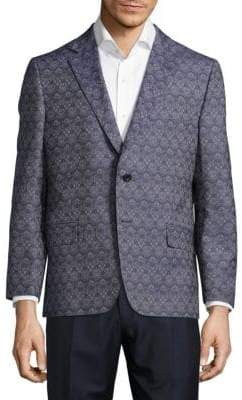 Hickey Freeman Milburn Patterned Cotton Jacket