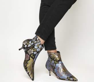 dc499e2b5e6c Office Alibi Kitten Heel Boots Floral Brocade