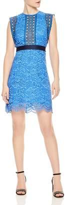 Sandro Handi Eyelet-Detail Lace Dress