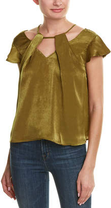 J.o.a. Satin Flutter Top