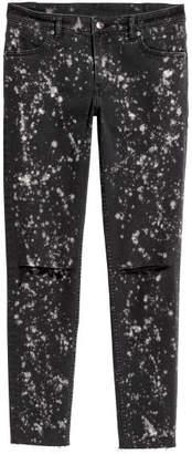 H&M Super Skinny Low Ankle Jeans - Black