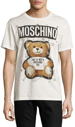 Moschino Safety Pin Teddy Cotton Tee