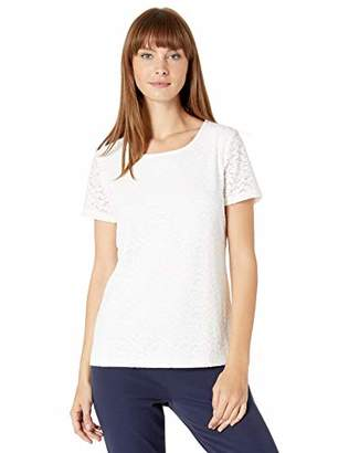 Calvin Klein Women's All Over Lace Short Sleeve Top