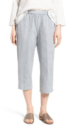 Women's Eileen Fisher Organic Linen Straight Leg Crop Pants $178 thestylecure.com