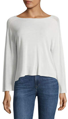 Eileen Fisher Ribbed Boat Neck Top