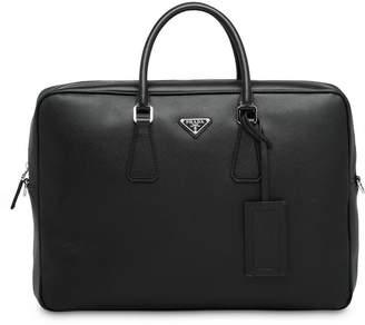 Prada logo plaque briefcase