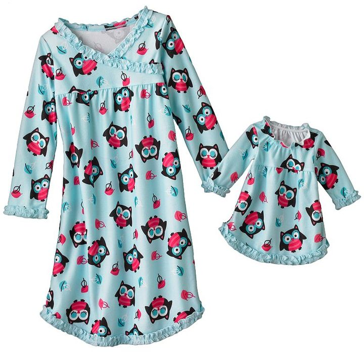 Jumping beans owl nightgown - toddler