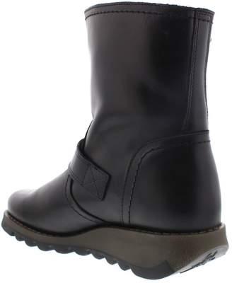 Fly London Seku057 Buckle Ankle Boot - Black