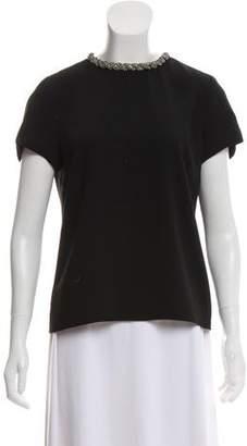 Ellery Embellished Short Sleeve Top