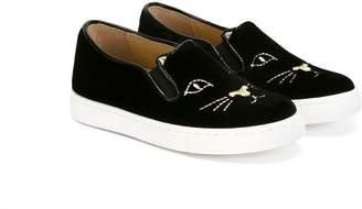 Charlotte Olympia Kids Incy Cool Cat slip-on sneakers