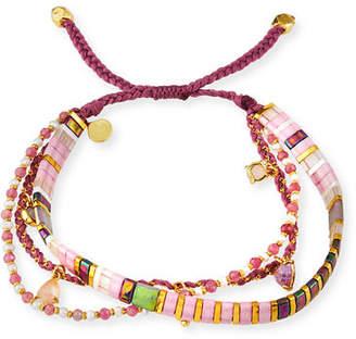 Tai 3-Row Adjustable Bead Bracelet