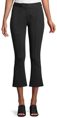 Diane von Furstenberg Mid-Rise Cropped Boot-Cut Pants