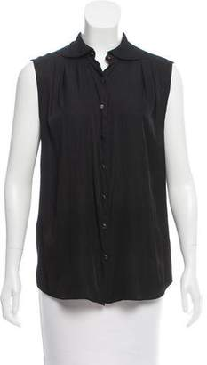 Theyskens' Theory Collared Sleeveless Top