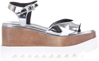 Stella McCartney Elyse Faux Metallic Leather Sandals