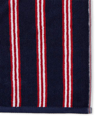 Tommy Hilfiger Navy & Red Bolston Stripe Washcloth