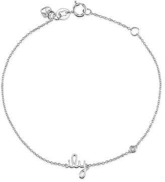 Sydney Evan Syd by Sterling Silver Diamond 'ILY' Bracelet - 0.015 ctw