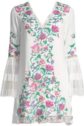 Tadashi Shoji Floral Crepe Dress