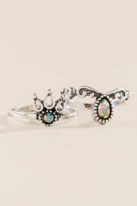 francesca's Cheyenne Boho Ring Set - Silver