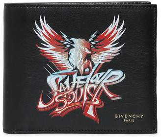Givenchy Save Our Souls Print Leather Wallet