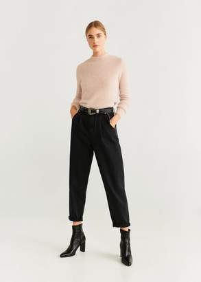 MANGO Textured knit sweater ecru - XS - Women