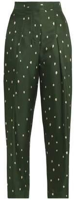 3.1 Phillip Lim Pleated Printed Silk-Twill Tapered Pants