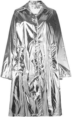 MM6 MAISON MARGIELA oversized metallic coat