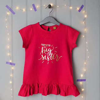 21762579633 Baby Yorke Designs Promoted To Big Sister Or Big Brother T Shirt