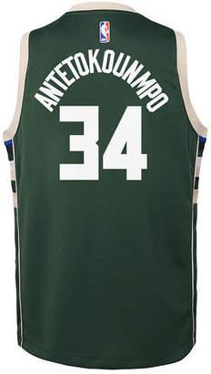 Nike Giannis Antetokounmpo Milwaukee Bucks Icon Swingman Jersey, Big Boys (8-20)