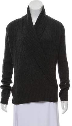 Ralph Lauren Medium-Weight Cable Knit Cardigan Grey Medium-Weight Cable Knit Cardigan