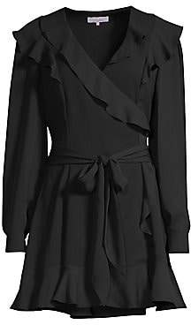 Parker Women's Pauline Ruffled Wrap Mini Dress
