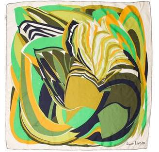 Lanvin Silk Abstract Print Scarf