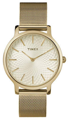 Timex Goldtone Metropolitan Analog Watch