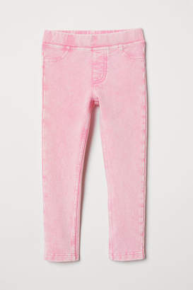 H&M Thick Jersey Leggings - Pink