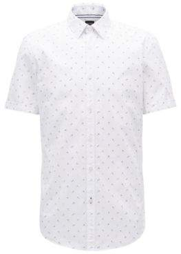 BOSS Hugo Anchor-Print Sport Shirt, Slim Fit Ronn M Light Blue