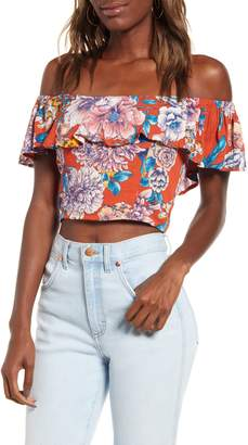 Band of Gypsies Camellia Off the Shoulder Crop Top