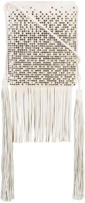Saint Laurent studded fringed shoulder bag