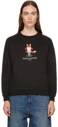 MAISON KITSUNÉ Black Pixel Fox Sweatshirt