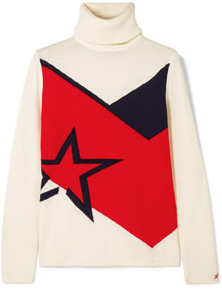 DAY Birger et Mikkelsen Perfect Moment - Super Intarsia Merino-wool Turtleneck Sweater - White