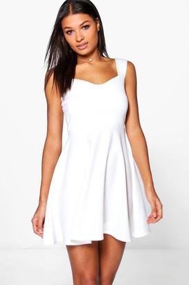 boohoo Marcie Strappy Skater Dress $32 thestylecure.com