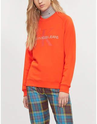 Calvin Klein Logo-print cotton-blend sweatshirt